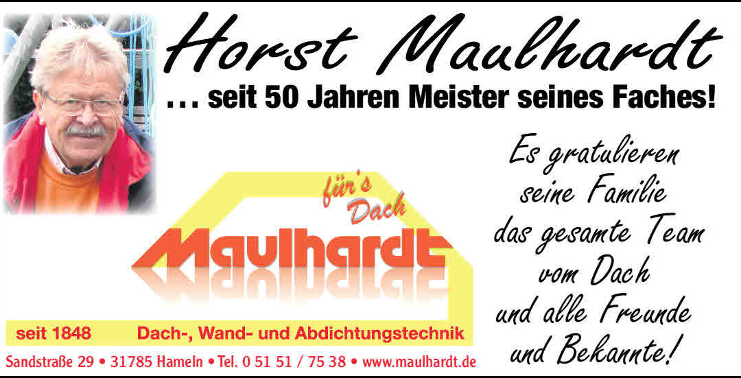 Horst Maulhardt 50 Jahre Dachdeckermeister